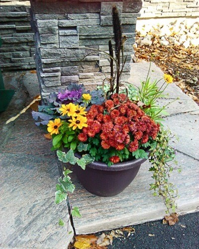 fall GreenWay planters